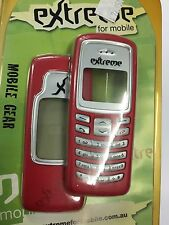 Nokia 2100 Front & Rear Housings/Covers in Red incl. Screen Display Glass,Keypad