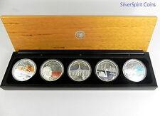 2006 $1 DISCOVER AUSTRALIA FIVE COIN 1oz Silver Collection Set