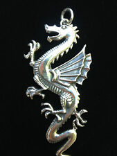 Silver Winged Dragon Pendant 22 grams solid 925 sterling