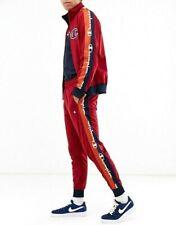 Champion Life Men's 2 Piece Tracksuit Track Jacket Pants Cherry S M L XL XXL