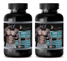 Tribulus Terrestris Powder 1000mg Testosterone Booster 120 Tablets 2 Bottles