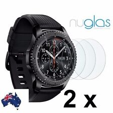 2x Genuine Nuglas screen protector for Samsung Galaxy Gear S3 Classic / Frontier