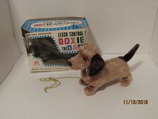 Vintage Estate Attic Find Battery Alps Doxie the Dachs Dashund Leash Control Dog