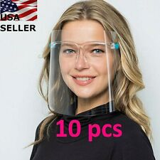 �� 10 Set Face Shield Guard Mask Safety Protection With Glasses Reusable ��