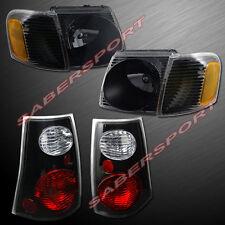 Combo Black Headlights w/ Corner + Taillights for 2001-2005 Explorer Sport Trac