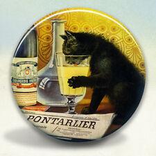 Absinthe Bourgeois Black Cat Pocket Mirror tartx