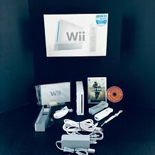 Nintendo Wii White Console RVL-001 Game Cube Compatible COD Crossbow Game Bundle