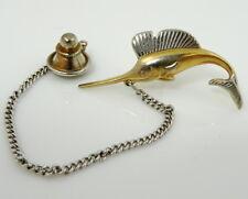 Swank Marlin Fish Vintage Tie Tack Pin