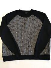 J CREW Ladie's Merino Wool Sweater Size XL Chambray Eyelet Navy Blue EUC Pretty!