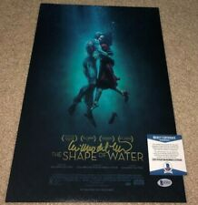 GUILLERMO DEL TORO SIGNED HELLBOY SHAPE OF WATER 12X18 POSTER PHOTO BAS B