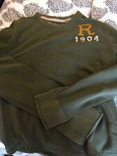 Ruehl No. 925 Men's Long Sleeve Crew Neck Olive Green Thermal Sweater - Size XL