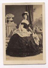 More details for cdv camille silvy duchess wellington 1860 carte de visite photo mistress robes