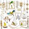 Bird Parrot Toys Cage Hanging Hammock Swing Perch Parakeet Budgie Cockatiel Pets