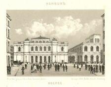 Hamburg, die Börse, Original-Lithographie von Robert Deissler von ca. 1850