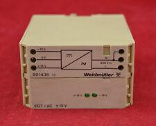 Weidmüller 801436 EGT EG4 Stromversorgung 230VAC/2X15DC Neu OVP