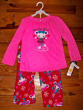 New! Girls JOE BOXER 2pc Pink Red White Purple Ice Skate Mouse Pajamas Size 4T