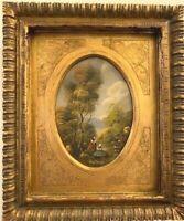 OIL by OTTO Von THOREN -- LANDSCAPE in OIL -- in Antique Gold Gilded Frame