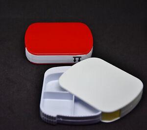 (3,50€/St) 2 Pillendosen 4 Fächern Tablettenbox Pillenbox Pillendose Tagesdose