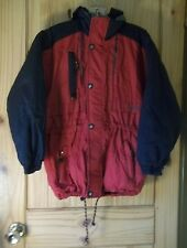 Obermeyer Red & Black Hooded Insulated Coat, Juniors Size 12