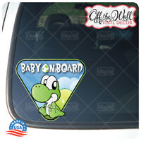"Baby Yoshi ""BABY ON BOARD"" Vinyl Sticker"