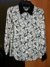 "NWT Cathrine Malandrino Women's ""Paris"" Snap Closure Blouse Shirt Sz Small"