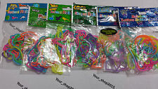 5 Pack of Shaped,Letters,Glow in dark,numbers Rubber Bands Loom Bands party bag