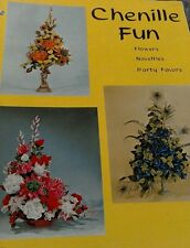 VINTAGE CHENILLE FUN FLOWERS NOVELTIES PARTY FAVORS 1968 CRAFT BOOK