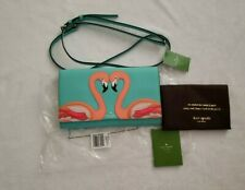 Kate Spade New York Flamingo Cali Crossbody Bag or Clutch Blue Novelty Rare NWT