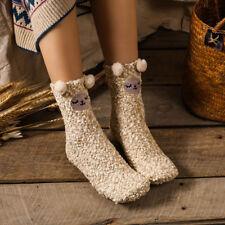 Women Girls Cartoon Animals Zoo Cute Socks Creative Winter Soft Sox Christmas