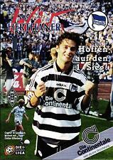 BL 97/98 Hertha BSC - Borussia Mönchengladbach, 10.08.1997 Poster Kjetil Rekdal