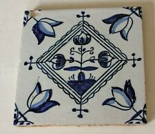 Antique Delft Tulip Tile Blue & White