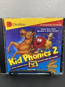 Kid Phonics 2 by Davidson Builds Reading Skills CD-ROM Windows 95 / 3.1 Mac