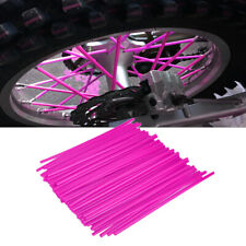 72 Pink Wheel Spoke Wraps Rim Covers Skins fr Dirt Bikes Motorcycle Motocross Li