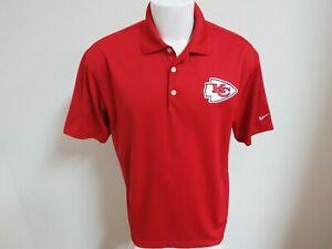 Sz M-2XL Red Chiefs Nike Dri-Fit Mens Polyester #42V Polo Shirt