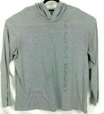 Under Armour Threadborne Loose Heat Gear Hooded Long Sleeve Gray Shirt Mens 4XL