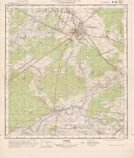 Russian Soviet Military Topographic Map – OSTROW MAZOWIECKA (Poland), ed. 1976