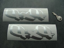 2x stickers auto 4x4 18cm Argent off road decal pegatinas aufkleber B23-090
