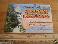 1951 Northern California Vintage Postcard folder Chandelier tree car driving