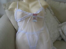 BABYDOLL CHEMISE (LACE TOP/WHITE) XL *Gift w/Buy It Now*