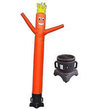 Orange Air Dancer and Blower Complete Set 10ft Color Sky Dancer Tube Man Set