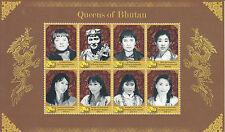 Bhutan 2011 MNH Queens of Bhutan 8v M/S Wangchuck Ashi Sangay Choden Stamps