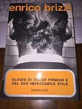 ENRICO BRIZZI ELOGIO DI OSCAR FIRMIAN e DEL SUO IMPECCABILE STILE 1^ed 1999
