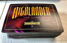 90+ Highlander Swordmaster CCG Game Open Deck Cards 1996 EC