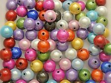 50 Mixed Color 3D Illusion Acrylic Miracle beads 10mm Spacer