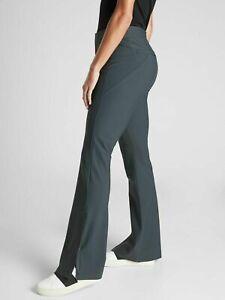 ATHLETA Stellar Flare Trouser Sz 2 PETITE 2P Anthracite GreyTravel Work #486208
