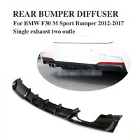 Carbon Fiber Rear Bumper Diffuser Spoiler Lip for BMW 3 Series F30 M Sport 13-18