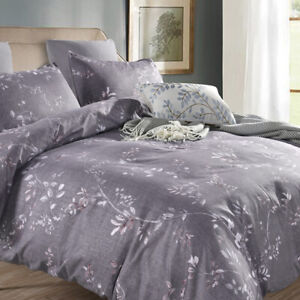 Bedding Set Pillowcases Print Duvet Quilt Cover Bedclothes Microfiber Fabric New