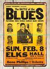 1948 Joe Turner Battle Of The Blues Elks Hall Concert Poster metal tin sign