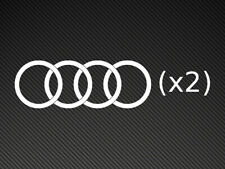 Audi Logo's x2 Vinyl Stickers Decals S-Line A3 A4 RS etc.