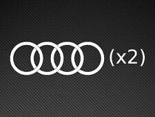 Audi Logo's x2 Vinyl Stickers Decals S-Line A3 A4 RS Quattro